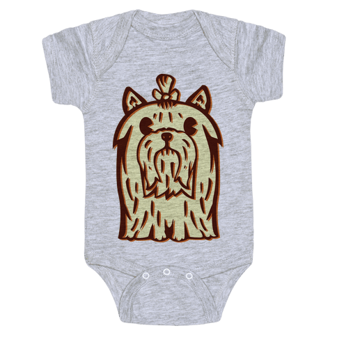 Yorkshire Terrier Vintage Illustration Baby Onesy