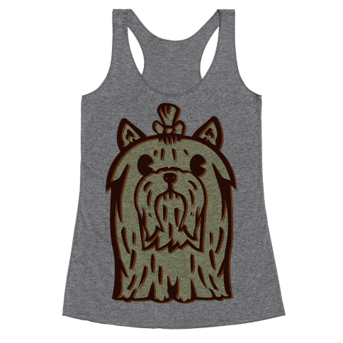 Yorkshire Terrier Vintage Illustration Racerback Tank Top
