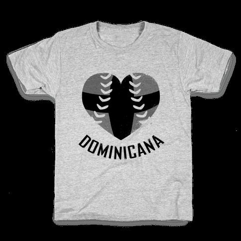 Dominican Baseball Love (Baseball Tee) Kids T-Shirt