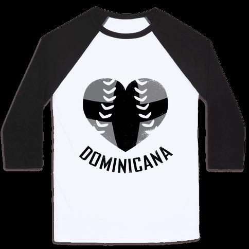 Dominican Baseball Love (Baseball Tee) Baseball Tee