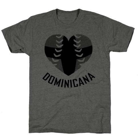 Dominican Baseball Love (Baseball Tee) Mens T-Shirt