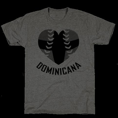 Dominican Baseball Love (Baseball Tee) Mens T-Shirt