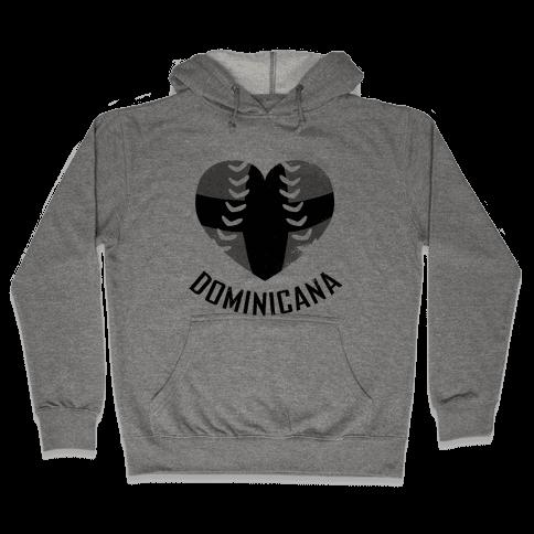 Dominican Baseball Love (Baseball Tee) Hooded Sweatshirt