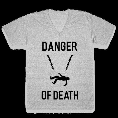 Danger Of Death V-Neck Tee Shirt
