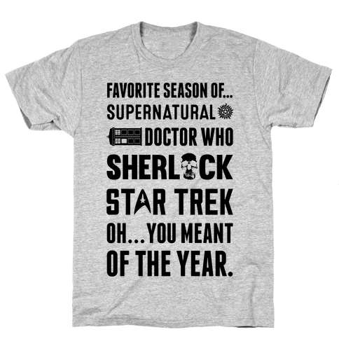 Favorite Fandom Season Mens T-Shirt