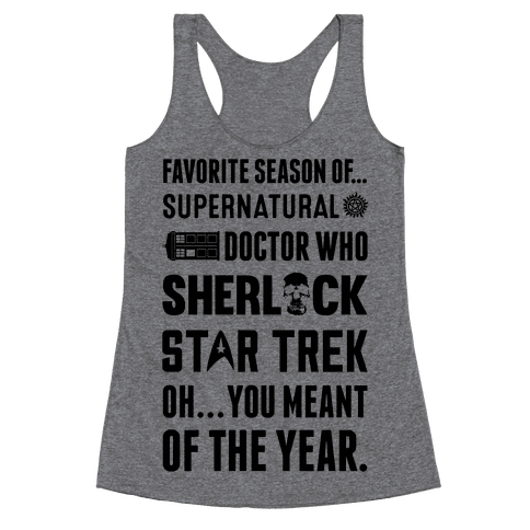 Favorite Fandom Season Racerback Tank Top