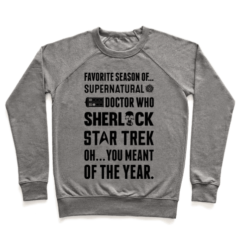 Favorite Fandom Season Pullover