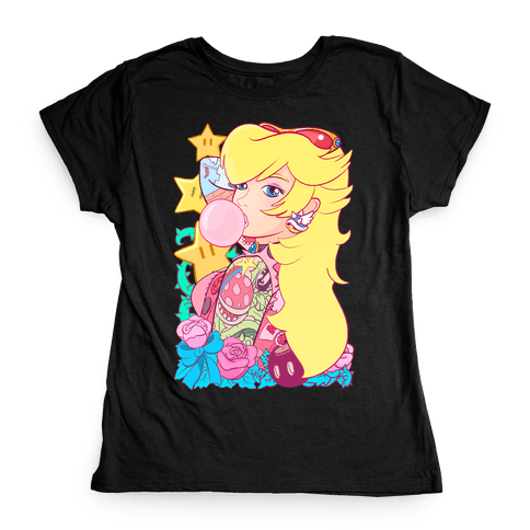 Punk Peach Parody Womens T-Shirt