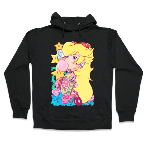 Punk Peach Parody Hooded Sweatshirt