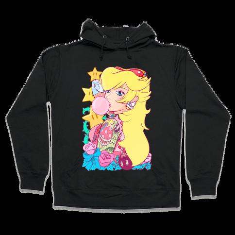 Punk Peach Parody Hooded Sweatshirt