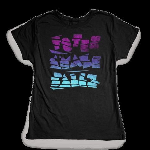 Totes Amazeballs (Dark) Womens T-Shirt