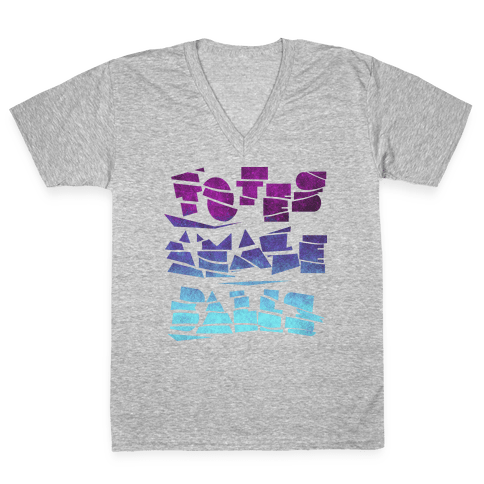 Totes Amazeballs (Dark) V-Neck Tee Shirt