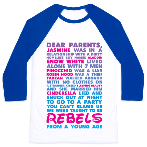 Taught To Be Rebels Baseball Tee