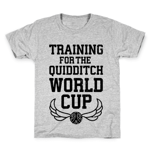 Training For The Quidditch World Cup Kids T-Shirt