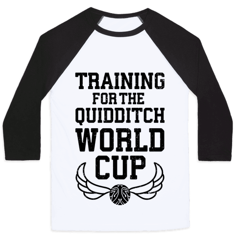Training For The Quidditch World Cup Baseball Tee