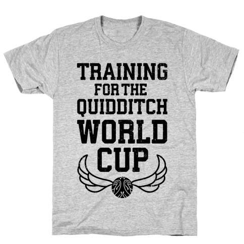 Training For The Quidditch World Cup Mens T-Shirt