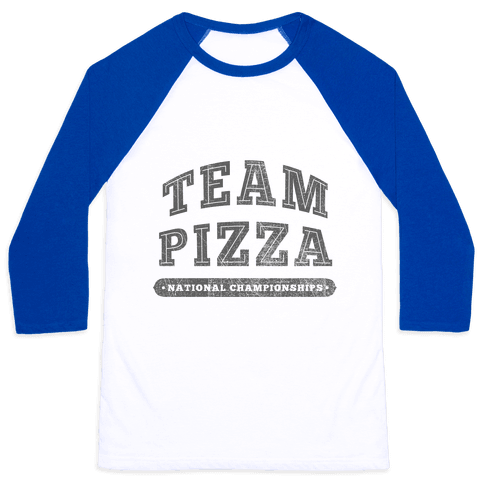 Team Pizza Baseball Tee