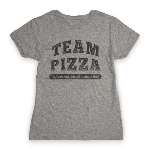 Team Pizza Womens T-Shirt
