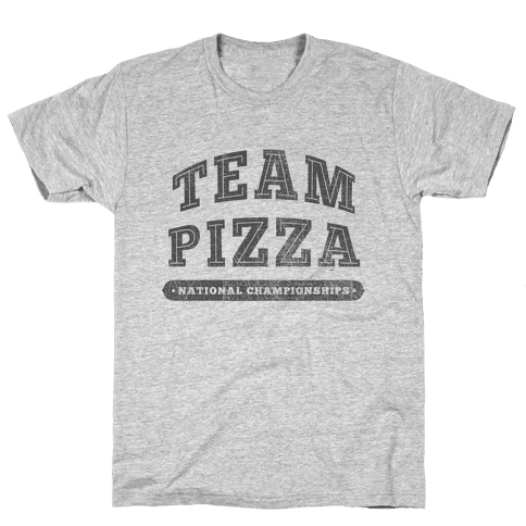 Team Pizza Mens T-Shirt