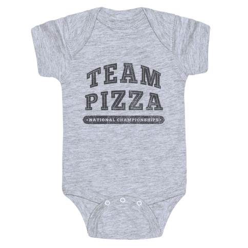 Team Pizza Baby Onesy