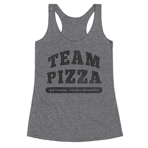 Team Pizza Racerback Tank Top