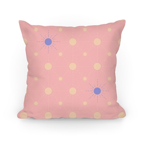 Sunshine Diamond Light Pink Pattern Pillow