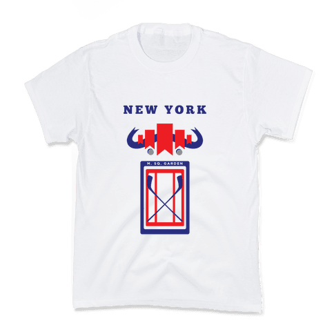 New York Stadium Hockey Fan Kids T-Shirt