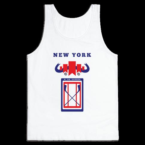 New York Stadium Hockey Fan Tank Top