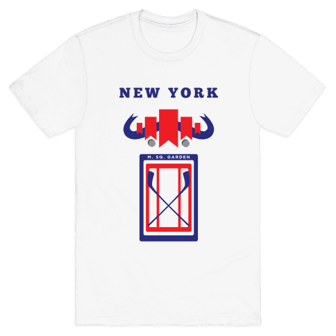 New York Stadium Hockey Fan Mens T-Shirt