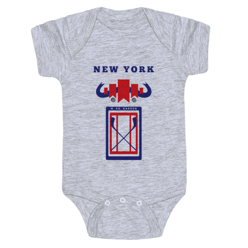 New York Stadium Hockey Fan Baby Onesy