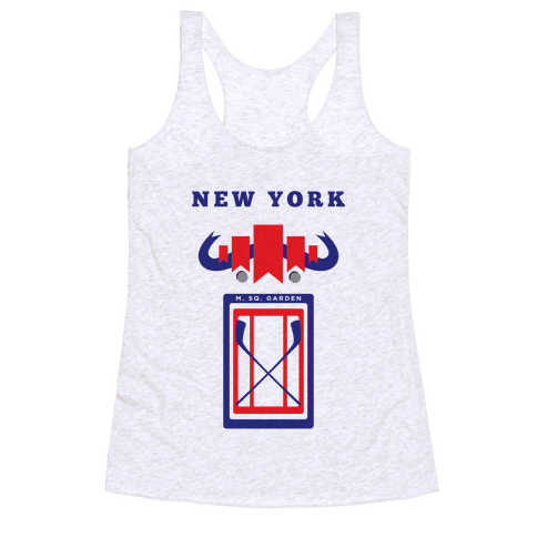 New York Stadium Hockey Fan Racerback Tank Top