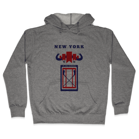 New York Stadium Hockey Fan Hooded Sweatshirt