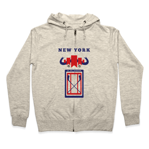New York Stadium Hockey Fan Zip Hoodie