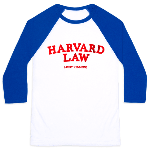 HARVARD LAW (VINTAGE) Baseball Tee