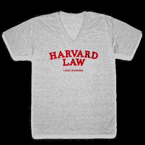 HARVARD LAW (VINTAGE) V-Neck Tee Shirt