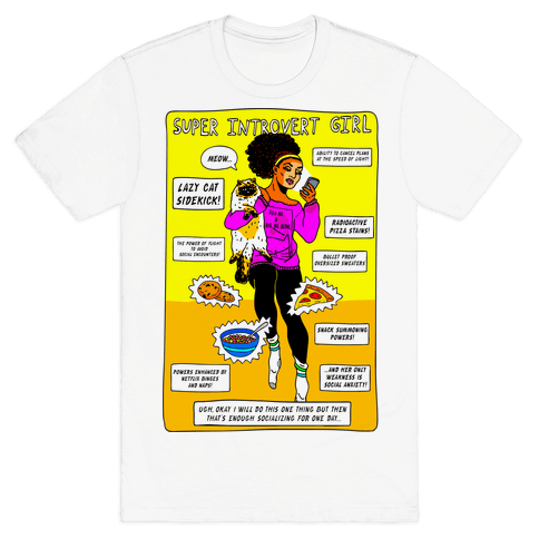 Super Introvert Girl Mens T-Shirt
