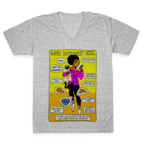 Super Introvert Girl V-Neck Tee Shirt