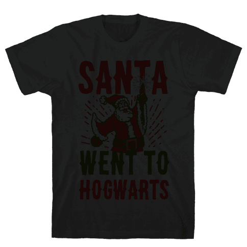 Santa Went to Hogwarts Mens T-Shirt