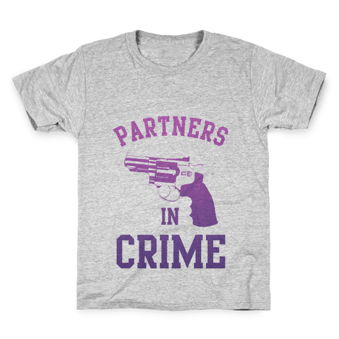 Partners in Crime (Purple) Kids T-Shirt