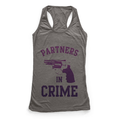 Partners in Crime (Purple) Racerback Tank Top