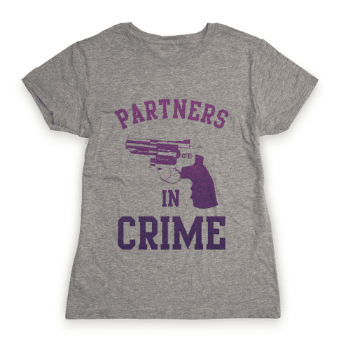 Partners in Crime (Purple) Womens T-Shirt
