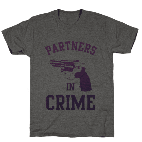 Partners in Crime (Purple) Mens T-Shirt