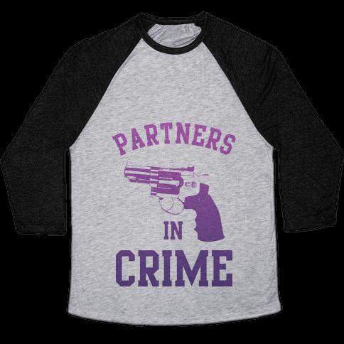 Partners in Crime (Purple) Baseball Tee