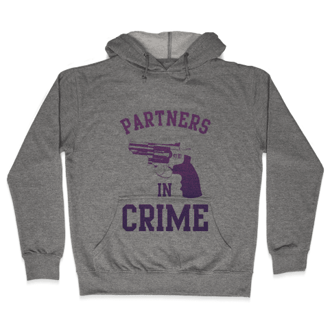 Partners in Crime (Purple) Hooded Sweatshirt