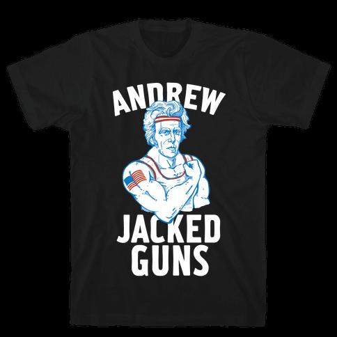 Andrew Jacked-Guns Mens T-Shirt