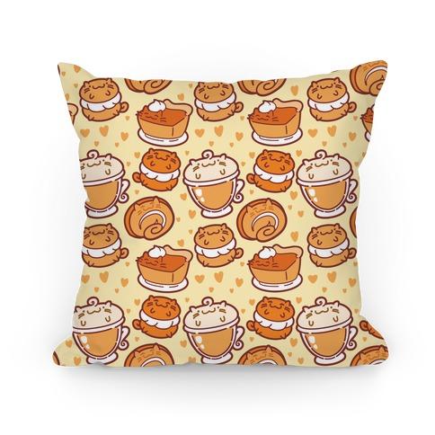 Purrmpkin Spice Cat Pillow Pillow