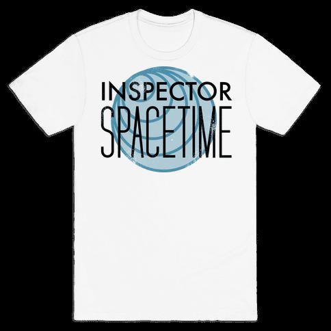 Inspector Spacetime Mens T-Shirt
