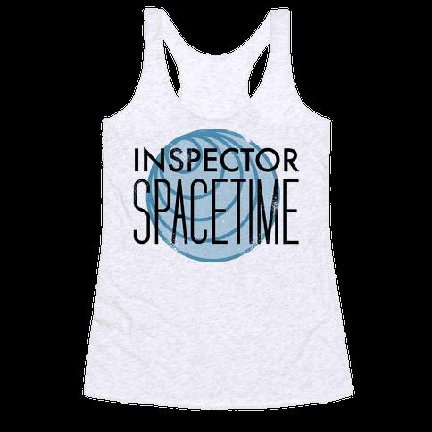 Inspector Spacetime Racerback Tank Top