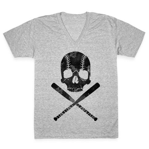 Baseball Roger V-Neck Tee Shirt