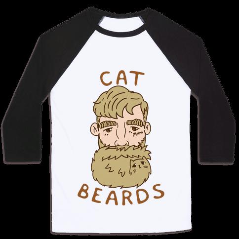 Blonde Cat Beards Baseball Tee